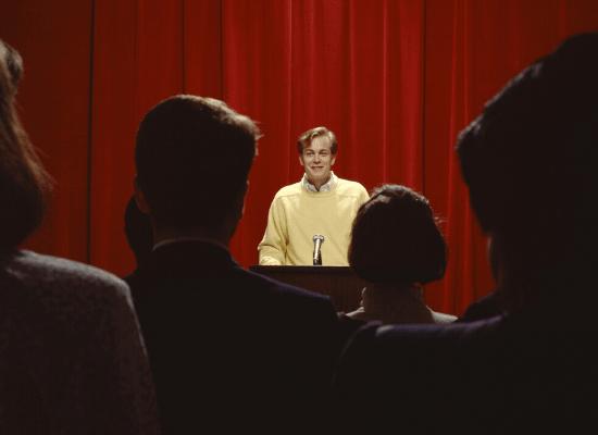 הרצאה, כנס, דיבור מול קהל